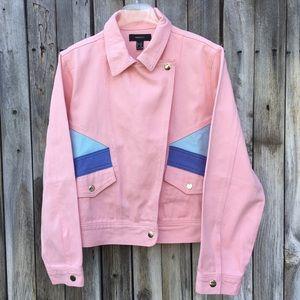 NWT Forever 21 Colorblock Denim Jacket Pink